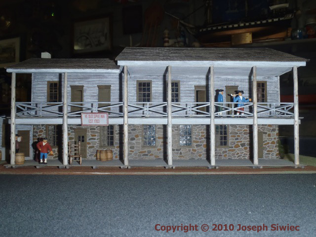 Miniature Model of Ye Old Spye Inn