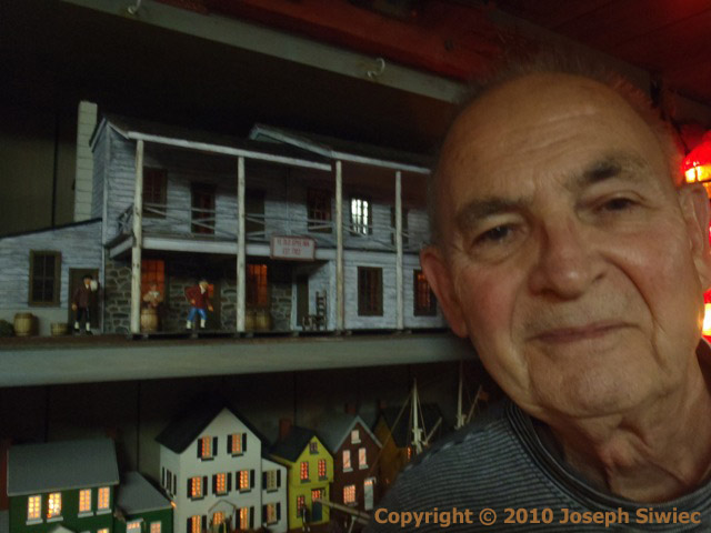Miniature Model of Ye Old Spye Inn and Mr. Joseph Siwiec