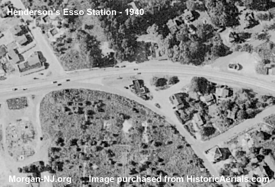 1940 Aerial Image of Henderson's Esso Station