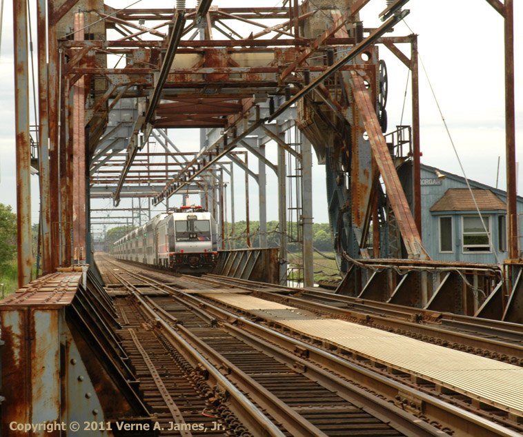 The Current NJ Transit Railroad Bridge Over Cheesequake Creek, Circa 1975.