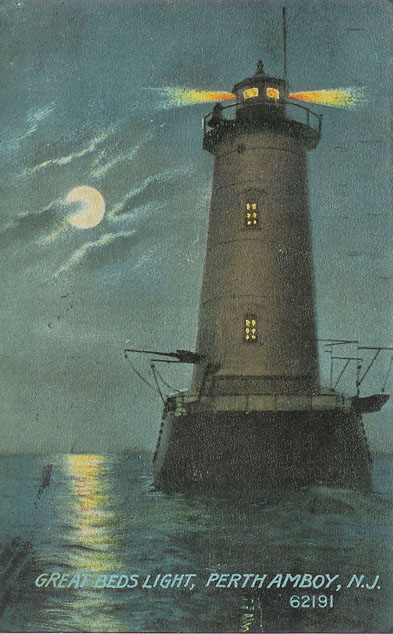 Great Beds Lighthouse Post Card