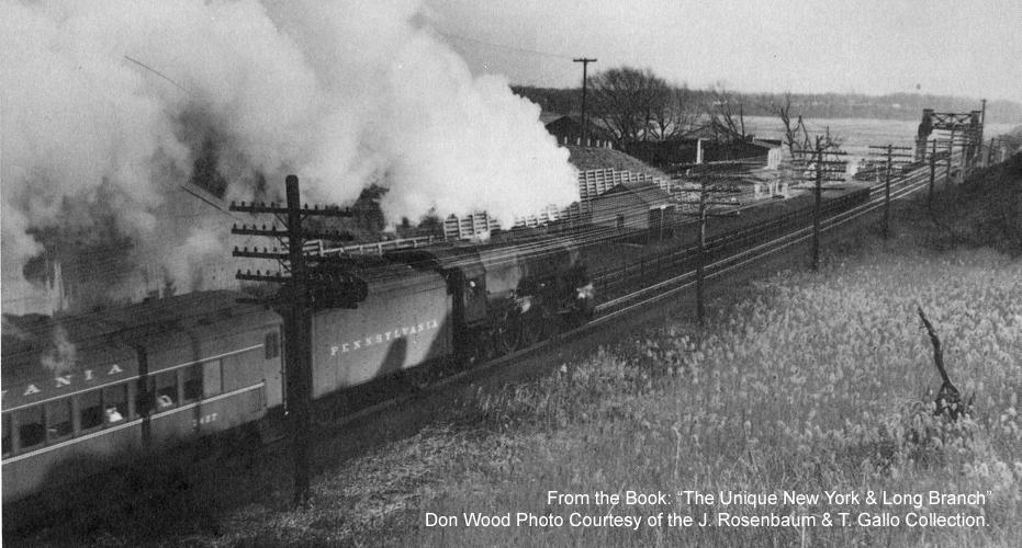 Passenger Train at Morgan Station in 1954