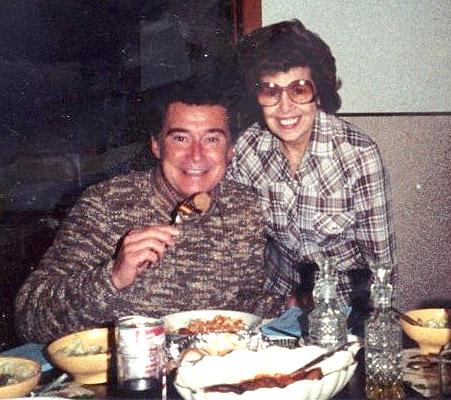 Regis Philbin with Mrs. Mary Beninato at Club Bene