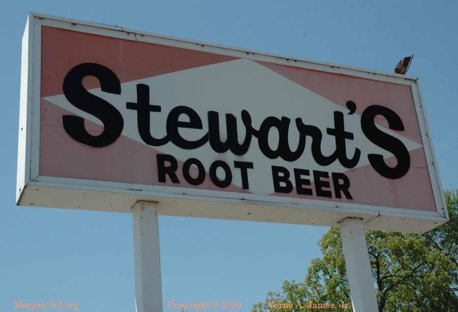 Stewart's Root Beer Sign in Morgan, NJ