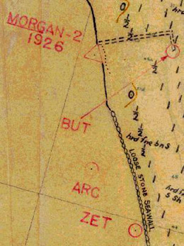 Portion of the 1934 U.S. Coast and Geodetic Survey of Raritan Bay Showing the Dock.