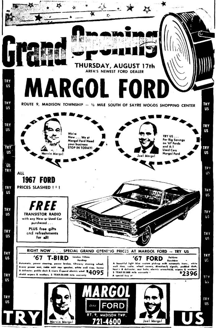 Margol Ford Advertisement