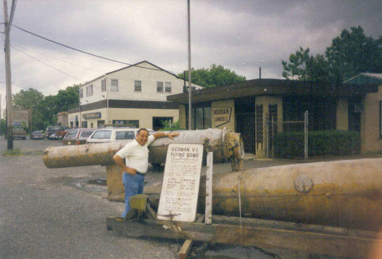 Mr. Danny DiPoalo, Morgan Lumber Co-Owner, with the Morgan Lumber Buzz Bomb in 1992.  Photo Courtesy of Christina DiPoalo Olender.