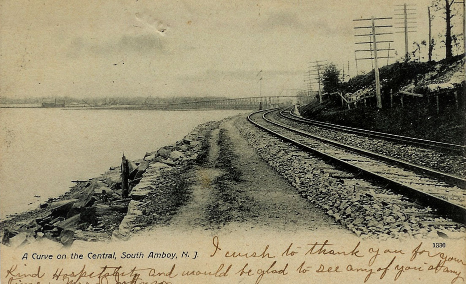 Railroad through Morgan, NJ, Circa 1907
