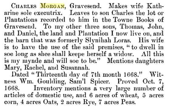 Abstract of the Will of Charles Morgan