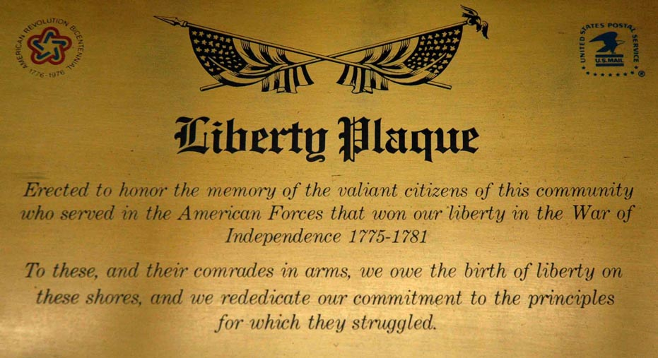 South Amboy Post Office's Liberty Plaque