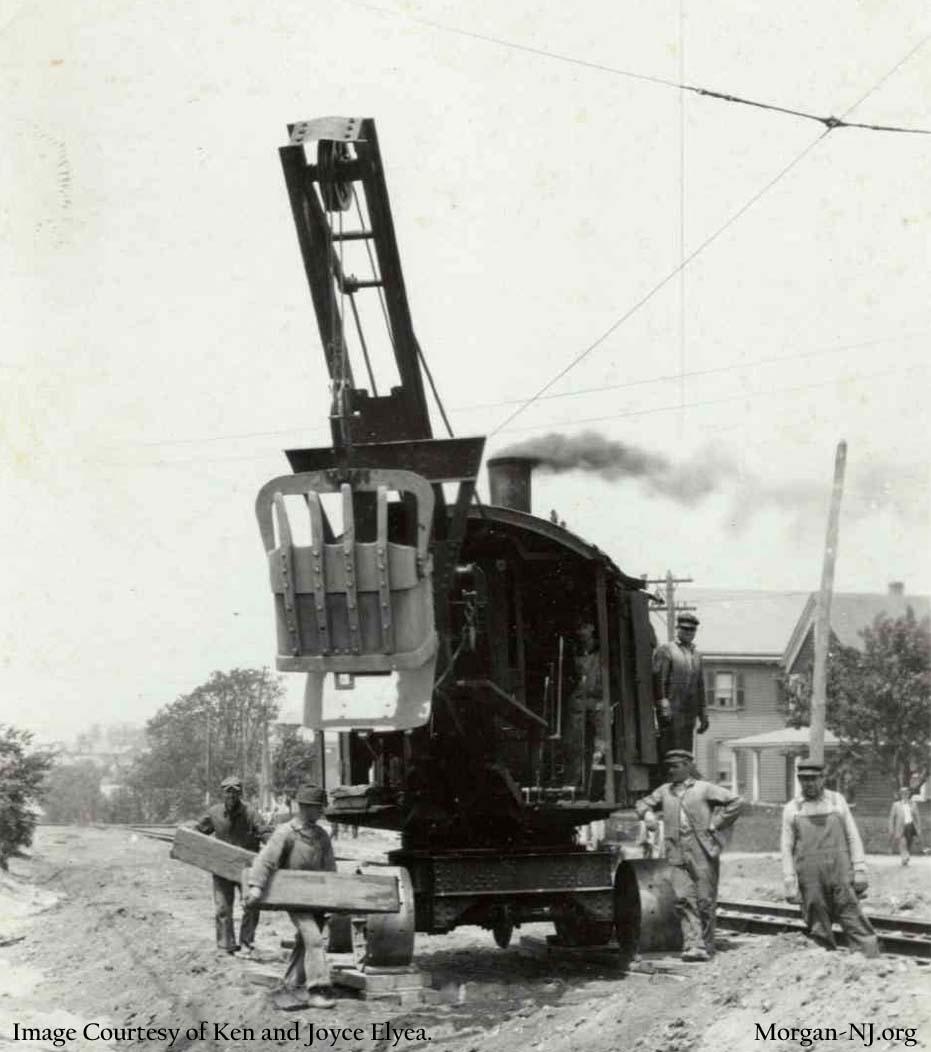 Steam Shovel on South Pine Road