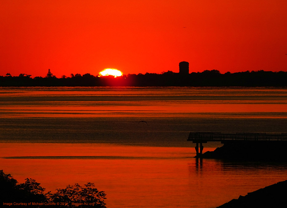 Sunrise Looking Toward Union Beach, NJ. Image Courtesy of Michael Cunliffe.
