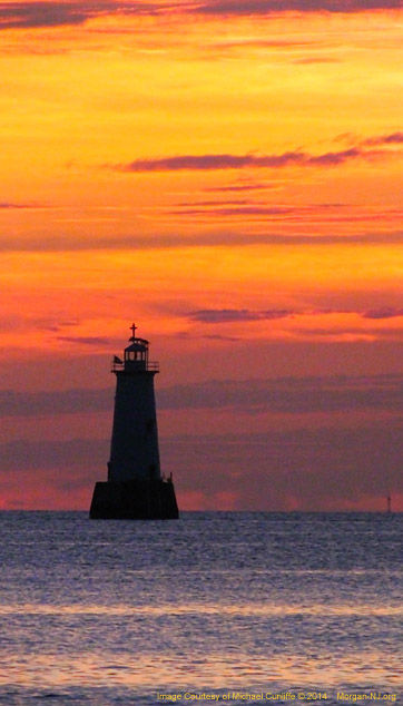 Great Beds Lighthouse Predawn.