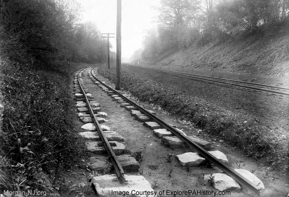 Camden and Amboy Railroad Track on Sleepers.