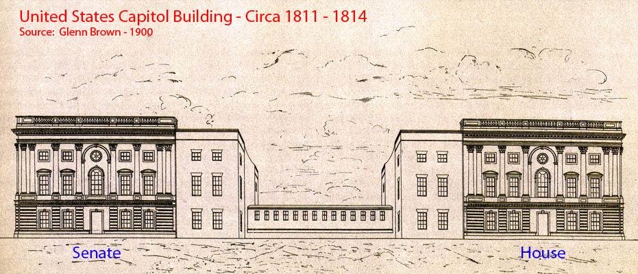 United States Capitol Building, Circa 1811 – 1814