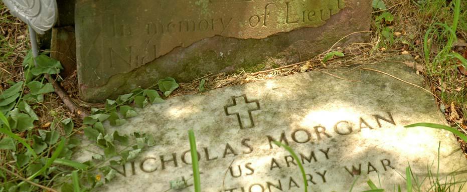 Grave Markers for Lieutenant Nicholas Morgan