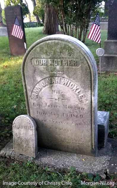 Headstone of Ann J. Van Wickle Morgan.