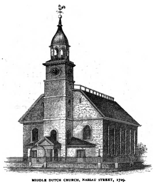 1729 Illustration of the Middle Dutch Church.