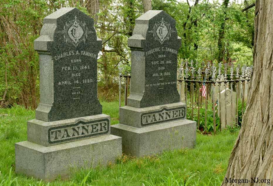 Headstones in the Morgan Family Cemetery