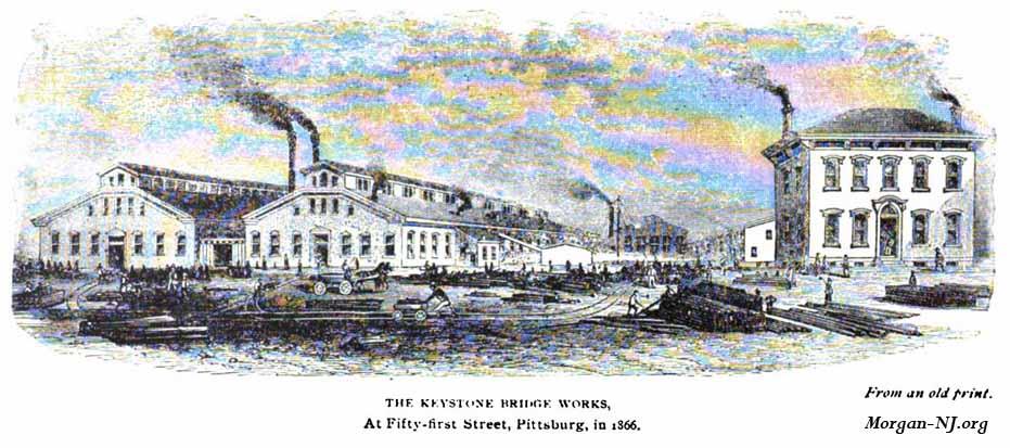 1866 Image of the Keystone Bridge Company