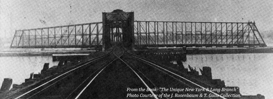 Original 1875 New York & Long Branch Railroad Swing Drawbridge over the Raritan River