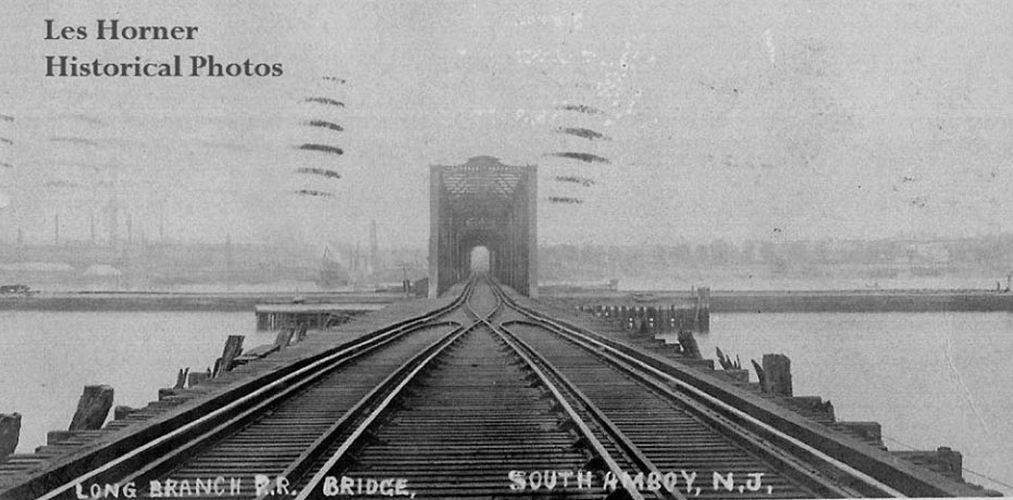 Original 1875 New York & Long Branch Railroad Swing Drawbridge over the Raritan River – Les Horner
