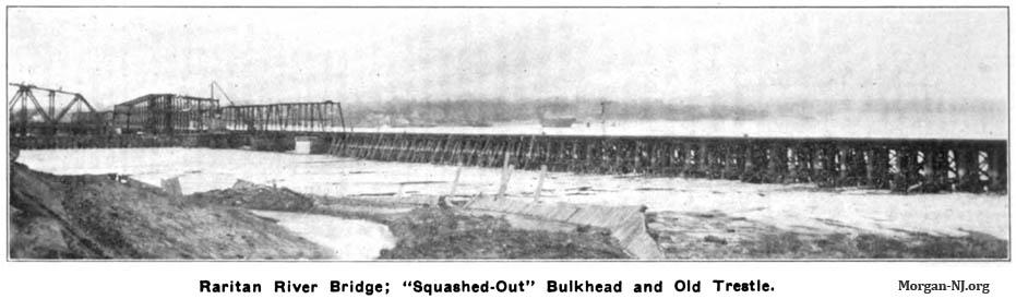 Rare Circa 1908 Image Showing the Original 1876 Bridge and Current 1908 Bridge.