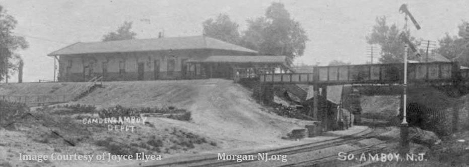 Camden and Amboy Railroad's South Amboy Depot