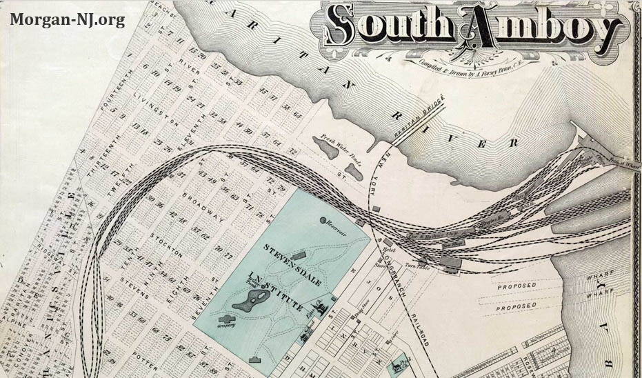 South Amboy Map Circa 1876