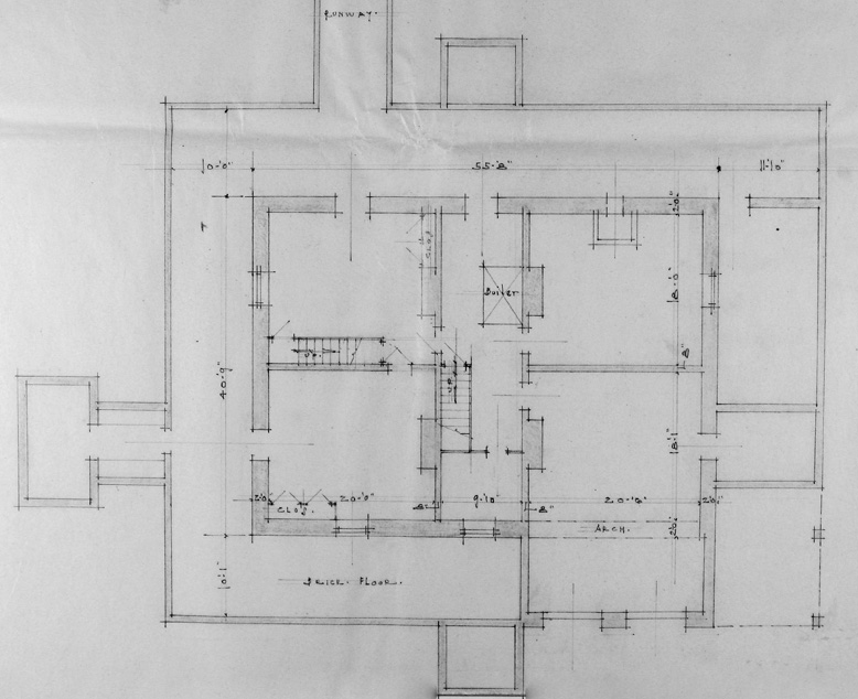 Bayview Manor Basement Layout. Image Courtesy of the National Archives.