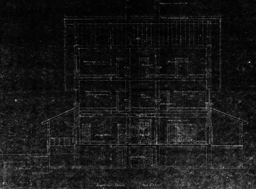 Bayview Manor Blueprint. Image Courtesy of the National Archives.