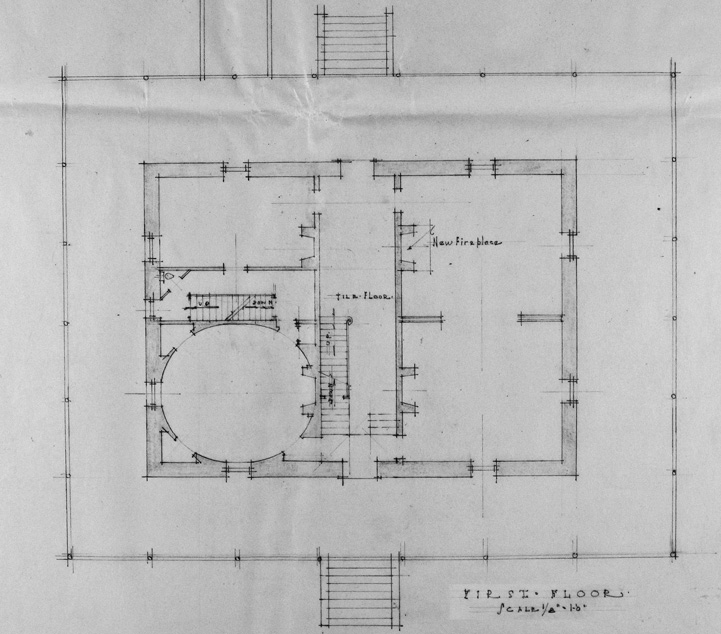 Bayview Manor First Floor Layout. Image Courtesy of the National Archives.