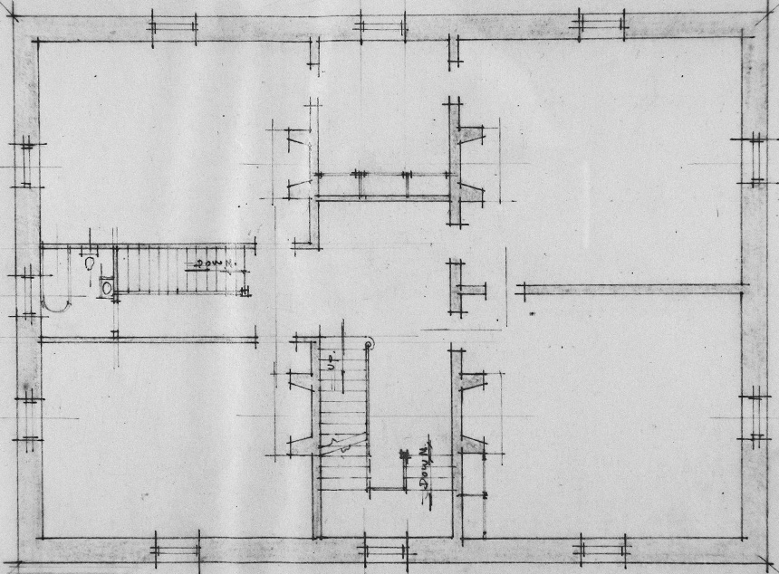 Bayview Manor Second Floor Layout. Image Courtesy of the National Archives.