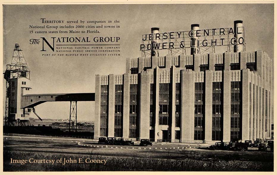 Attractive 1930u0027s Advertisement For The Newly Opened State Of The Art Jersey Central  Power U0026 Light Power Plant In South Amboy, NJ. Photo Courtesy Of John E.  Cooney Via ...